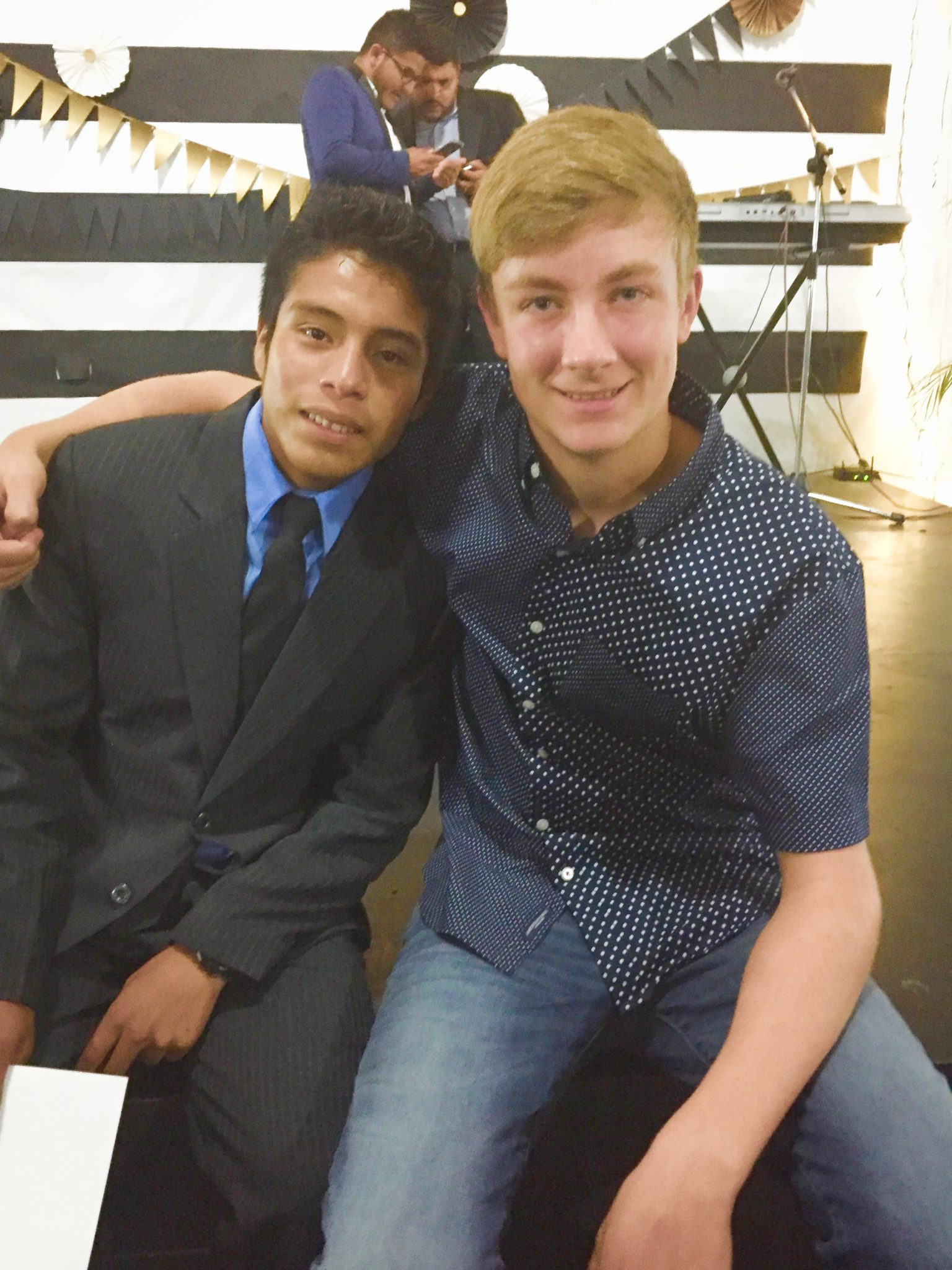 Jaime and Ethan at Graduation (October 2018)
